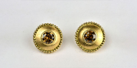 Sluis Juwelen    in 18k goud met 3 karaat, 7mm grote  bruine diamanten