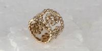 Droom ring,in18k goud met diamanten in verschillende slijpvormen.